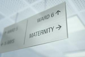 Maternity sign